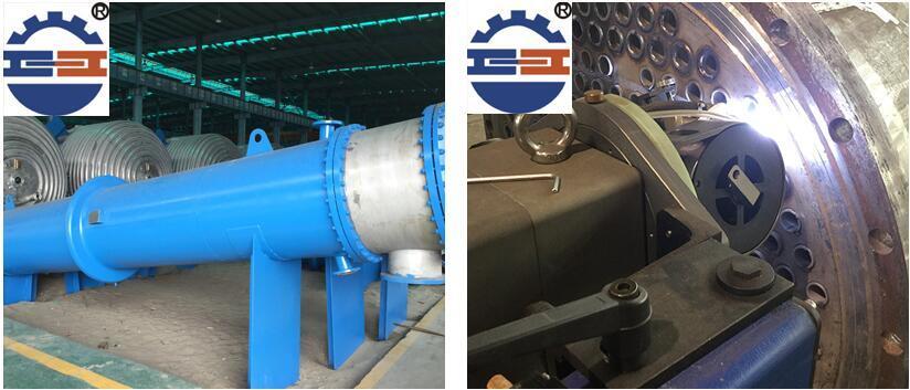 列管冷凝器施工图片